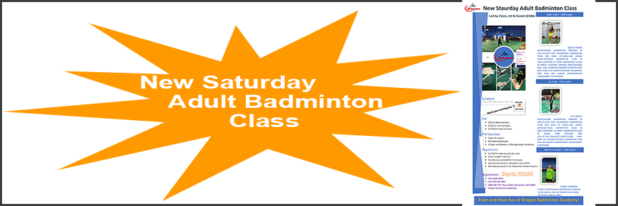 New Saturday Adult Class